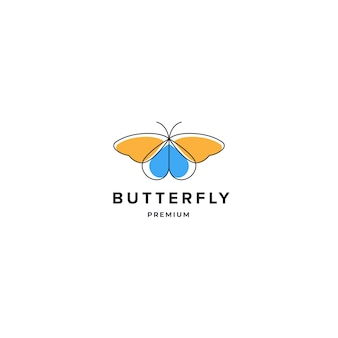 Butterfly logo inspiration, spa beauty logo design concept template