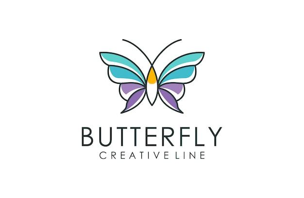 Butterfly logo line art