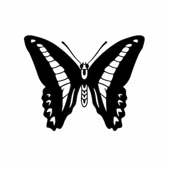 Butterfly logo symbol stencil design tattoo vector illustration