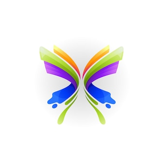 Butterfly logo template, abstract animal logos