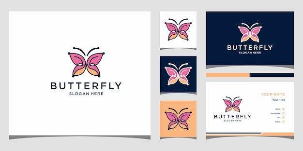 蝶のロゴテンプレートプレミアム