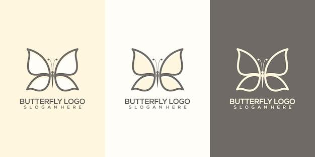 蝶のロゴのテンプレート