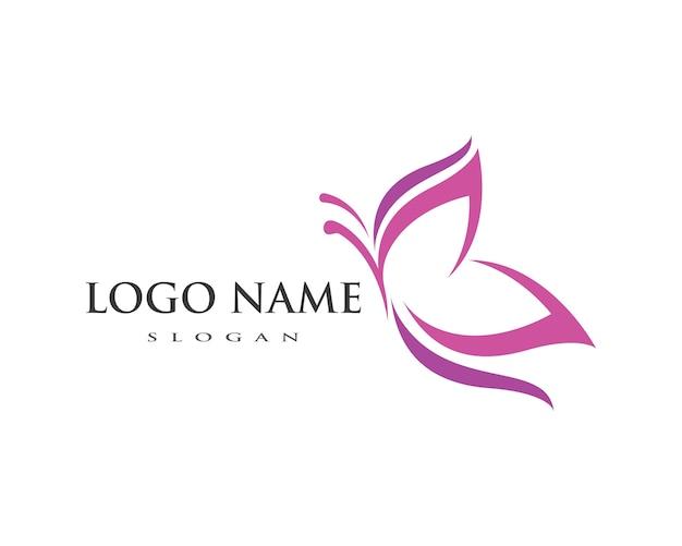 Шаблон логотипа бабочки