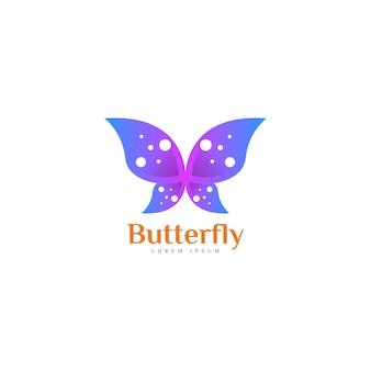 Butterfly logo template.