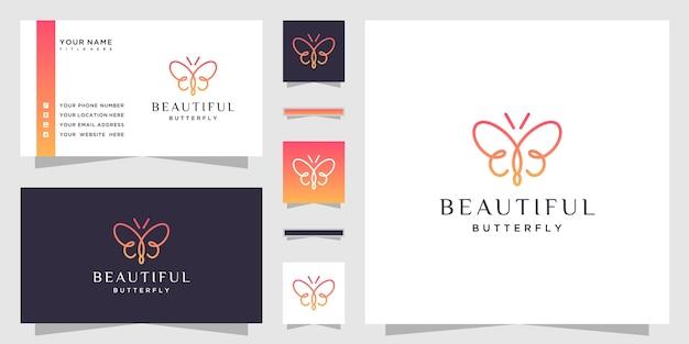 첫 글자 bb와 미니멀 라인 아트 스타일의 나비 로고