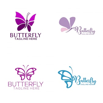 butterfly logo vectors photos and psd files free download