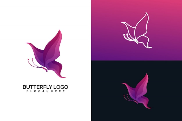 나비 로고