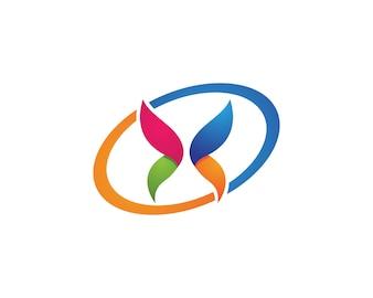 Butterfly logos symbols