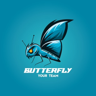 Бабочка талисман киберспорт игровая команда