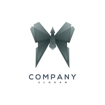 Butterfly origami style logo