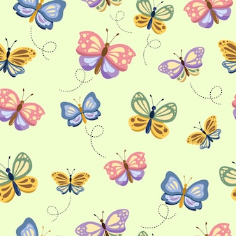 蝶のシームレスパターン
