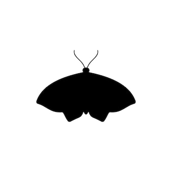 Butterfly silhouette icon in a simple trendy style. vector icon of insect moths for creating logos of beauty salons, manicures, massages, spas, jewelry, tattoos, and handmade artists.