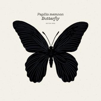 Butterfly species papilio memnon memnon