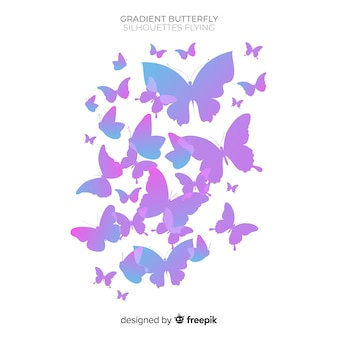 Butterfly swarm background