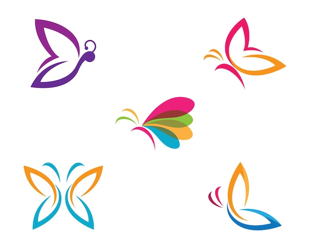 Butterfly symbol illustration