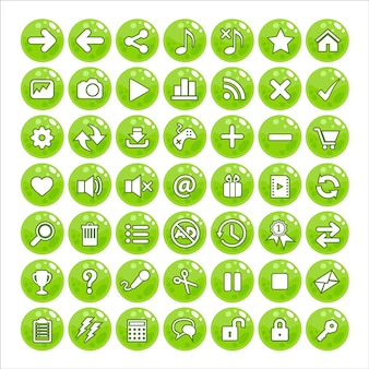 Button gui style jelly color green.