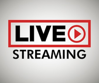 Button icon live streaming