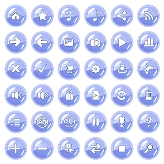 Button and icon set color purple.