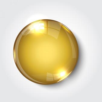 ボタンレジスターカラーゴールド光沢