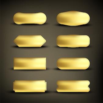 Button set color gold shape2