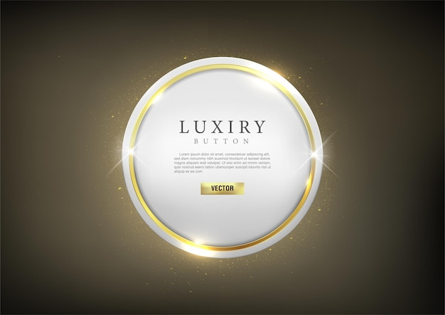 Button set web glossy luxury gold