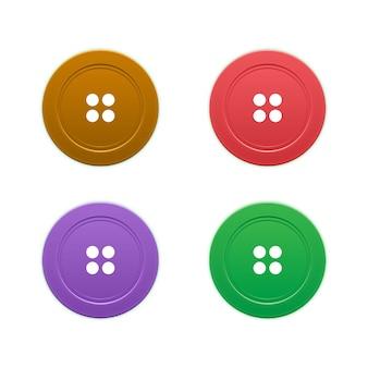 ボタンセット Premiumベクター