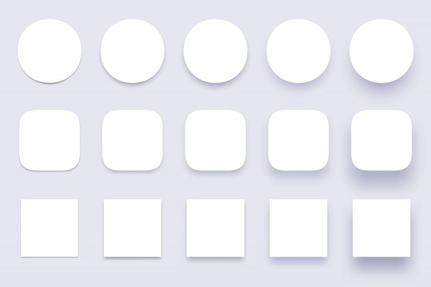 Button shadows, simple shape shadow, clear buttons badges and miscellaneous shapes material shadows isolated 3d realistic  set