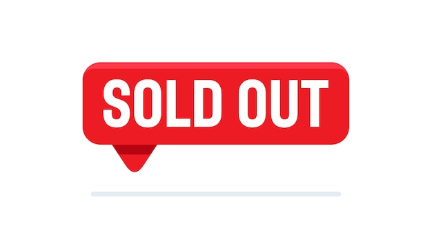 Button sold out sign vector illustration