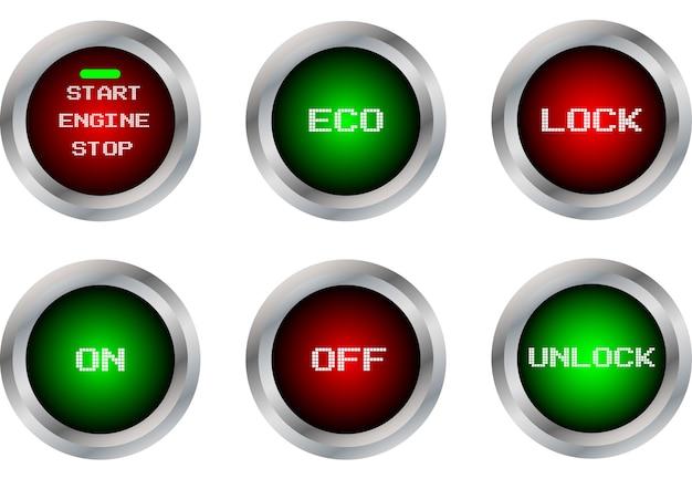 Button symbol isolate