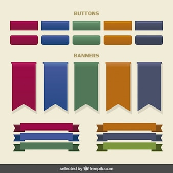 Buttons and banners collection