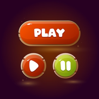 モバイルゲーム用のボタン。 uiゲームデザイン。