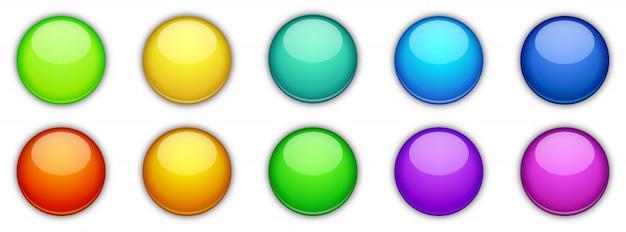 Кнопки, изолированные на белом фоне.