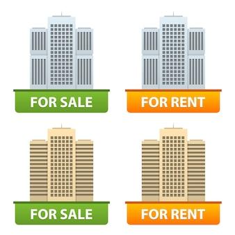 市のアパートのボタンの販売と賃貸、フォーマットeps 10