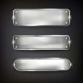 Кнопки установить веб-сталь на черный цвет фона