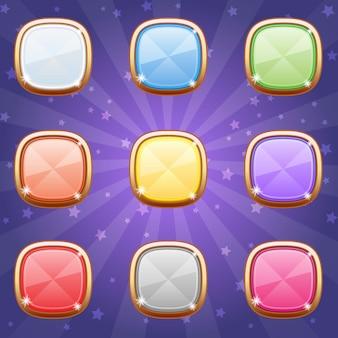 Кнопки в стиле украшений разноцветные