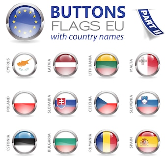 Buttons with eu flags