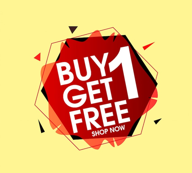 Buy 1 get 1 free banner
