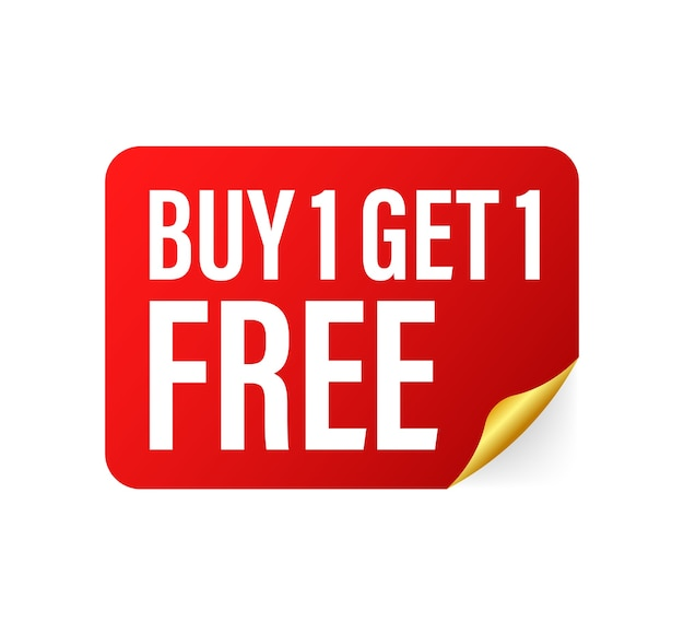 Buy 1 get 1 free illustration