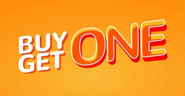 Купи 1 получи 1 бесплатную продажу плаката шаблон дизайна баннера для маркетинга