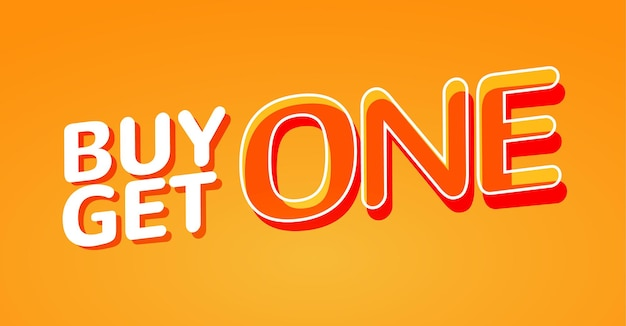 Buy 1 get 1 free sale poster banner design template for marketing