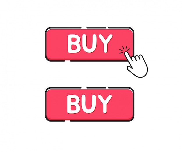 Buy button icon. click buy button
