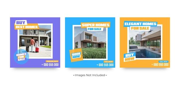 주택 소셜 미디어 게시물 템플릿 구매
