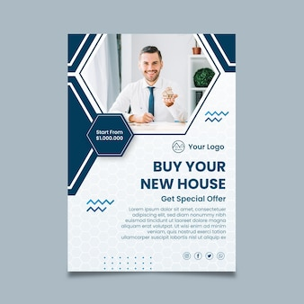 Buy new house poster template