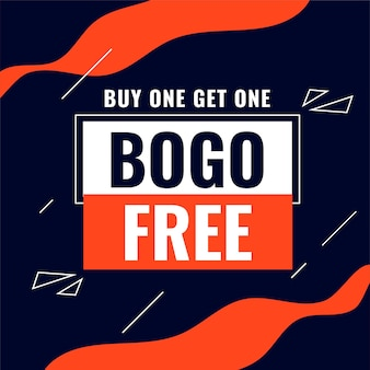 Buy one get one bogo sale abstract