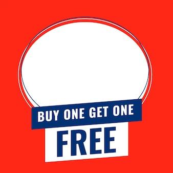 Acquista uno prendi un banner gratuito con spazio per aggiungere l'immagine del prodotto