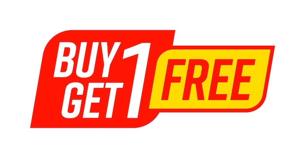 Buy one get one free bogo template promo shop sign sale tag
