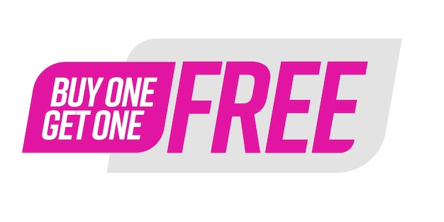 Buy one get one free bogo template voucher or coupon special shop store discount tag sticker