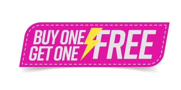 Buy one get one free  for promotion campaign
