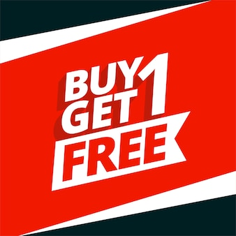 Buy one get one free sale background design
