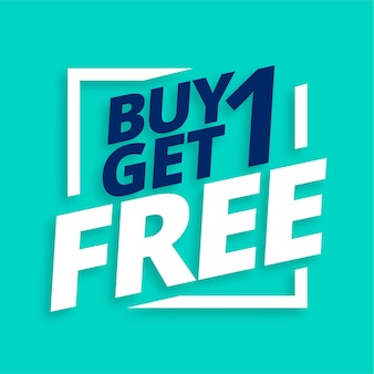 Buy one get one free sale banner
